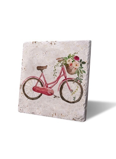 LWP Shop Çiçekli Kırmızı Bisiklet Nihale Renkli